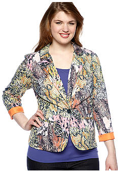 Free 2 Luv Plus Size Snake Print Jacket