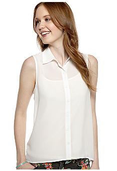 Self Esteem Solid Sleeveless Shirt
