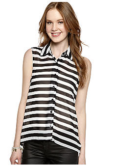 Self Esteem Stripe Sleeveless Shirt