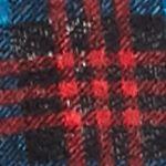 Self Esteem Clothing: Sea Port Blue/ Red Self Esteem Plus Size Knit Top With Fringe Cozy Vest