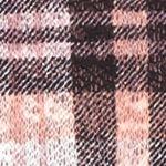 Self Esteem Clothing: Pink/Black/Ivory Self Esteem Plus Size Knit Top With Fringe Cozy Vest
