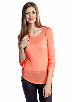 Belle Du Jour Knit to Woven Top