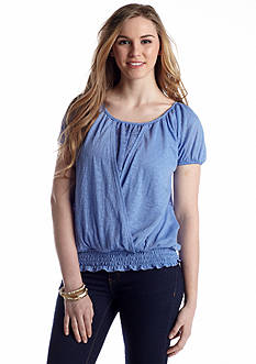 Self Esteem Surplice Peasant Knit Top