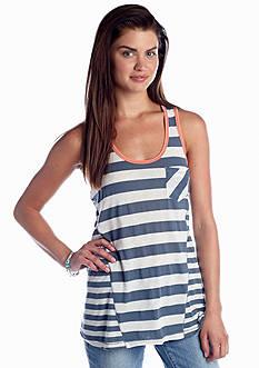 Belle Du Jour Stripe Lace Back Tank
