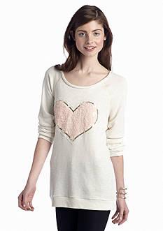 Self Esteem Sequin Heart Sweatshirt