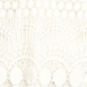 Knit Tops For Juniors: Pristine Ivory Belle du Jour Lace Front Henley