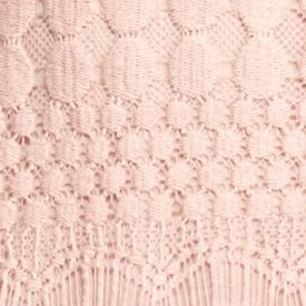 Juniors: Knit Sale: Pale Blush Belle du Jour Lace Front Henley