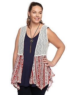 Belle du Jour Plus Size Americana 3Fer Top with Necklace