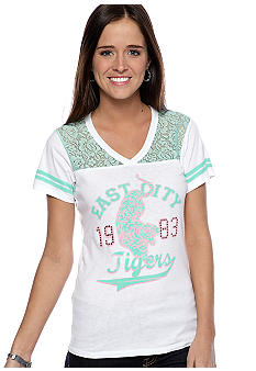 Belle Du Jour Football Tee with Front Screen