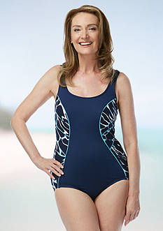 gabar Aqua Animal Scoop Neck One Piece Swimsuit