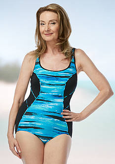 gabar Treading Water Scoop Neck One Piece Swimsuit