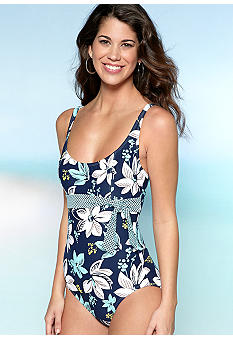 Beach House West Palm Floral One Piece Swim Suit
