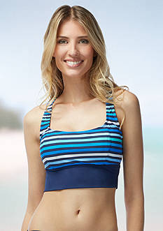 Beach House Rockland Stripe Racer Back Bikini Bra