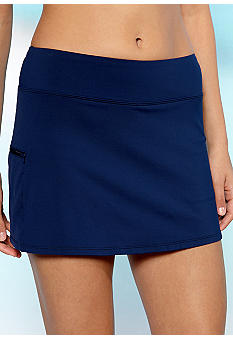Beach House Solid Skort Swim Bottom