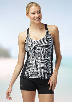 Beach House Sport Lime Rock Geo Tankini
