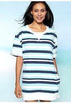 Beach House Coast Stripe Cover Up