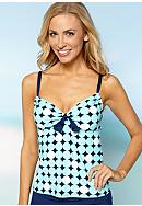 Beach House Tennis Adjustable Tankini
