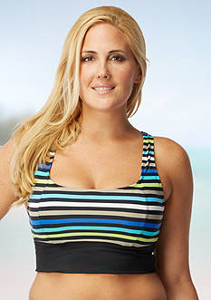 Beach House Woman Plus Size Rockland Stripe Racerback Bra