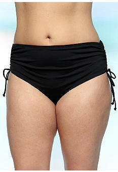 Beach House Woman Plus Size Solid Adjustable Side Bottom