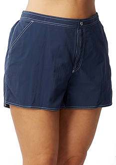 Beach House Woman Plus Size Board Shorts