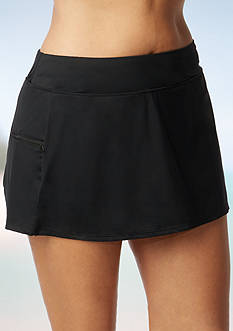Beach House Woman Plus Size Solid Skort Emma Bottom