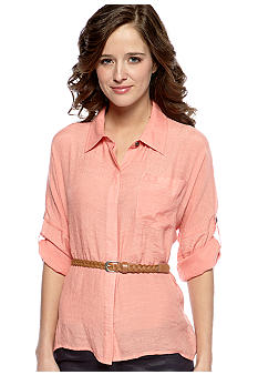 Dolled Up Long-Sleeved Belted Tunic