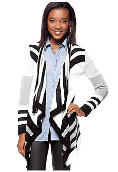 Say What? Stripe Flowy Cardigan