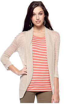 Say What? Slub Open Cardigan