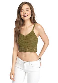 Demanding Crochet Sweater Crop Top