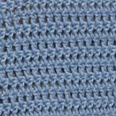 Blouses For Juniors: Blue Demanding Crochet Sweater Crop Top