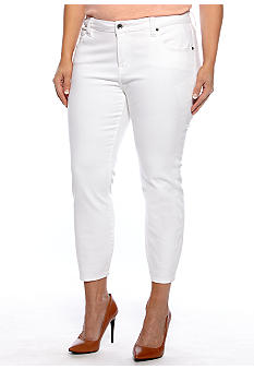Lucky Brand Plus Size Solid Capri