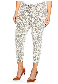 Lucky Brand Plus Size Animal Print Capri