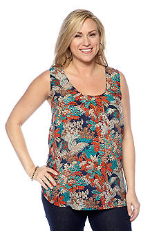 Lucky Brand Plus Size Jungle Print Tank Top