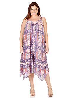 Lucky Brand Plus Size Tapestry Print Dress