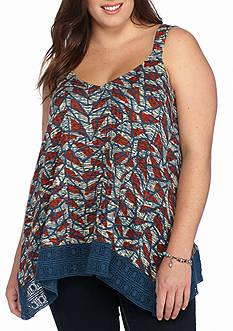 Lucky Brand Plus Size Crochet Hem Tank