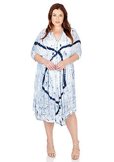 Lucky Brand Plus Size Tie-Dye Audrey Dress
