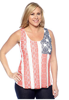 Lucky Brand Plus Size Lace Tank