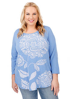 Lucky Brand Plus Size Modern Sunflower Tee