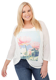 Lucky Brand Plus Size Lotus Top
