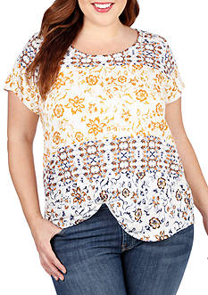 Lucky Brand Plus Size Maluya Floral Tee