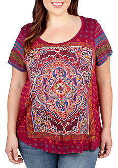 Lucky Brand Plus Size Persian Carpet Tee