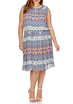 Lucky Brand Plus Size Stained Glass Dress