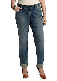 Lucky Brand Plus Size Georgia Straight Leg Jean in Petite Length