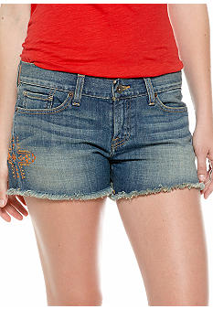Lucky Brand Riley Tribal Embroidered Cut Off Short