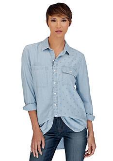 Lucky Brand Ditsy Boyfriend Shirt