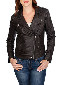 Lucky Brand Major Moto Leather Jacket