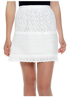 Lucky Brand Tiered Eyelet Skirt