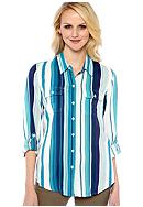 Lucky Brand Brooke Striped Shirt