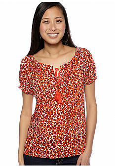 Lucky Brand Safi Mayan Cheetah Top