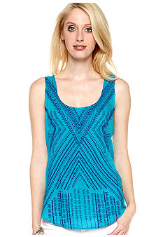 Lucky Brand Presley Embroidered Tank Top